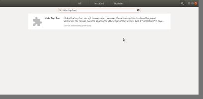 Ubuntu ‣ Software Hide Top Bar