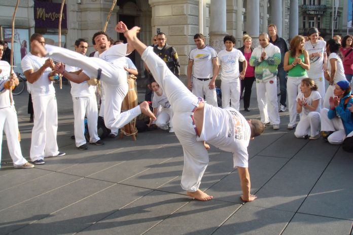 capoerista playing capoeira