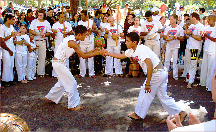 practitioners of capoeira