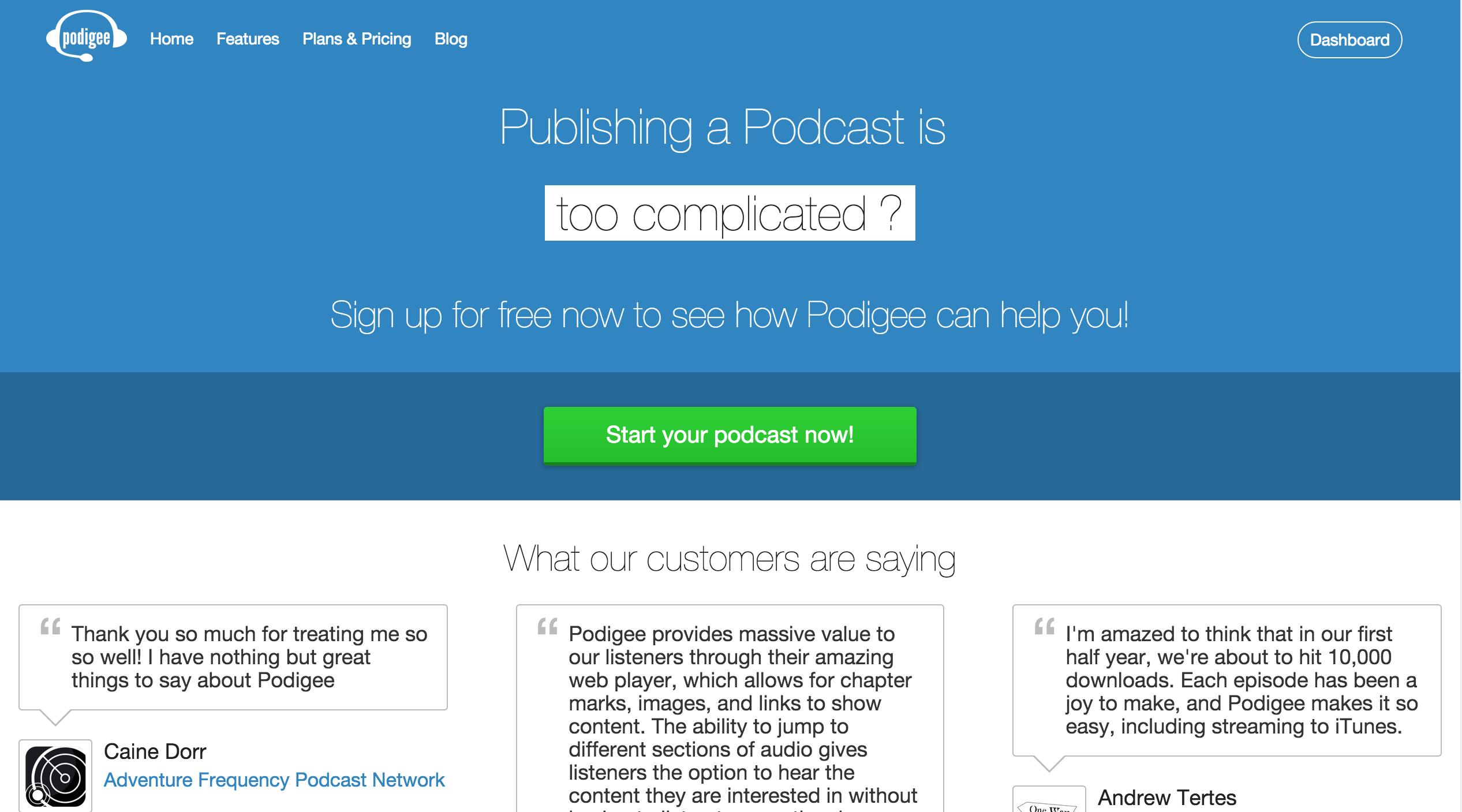 podigee-homepage-screenshot