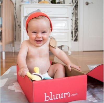 Baby in bluum box