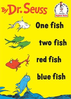 One Fish Two Fish Red Fish Blue Fish sku:00001639