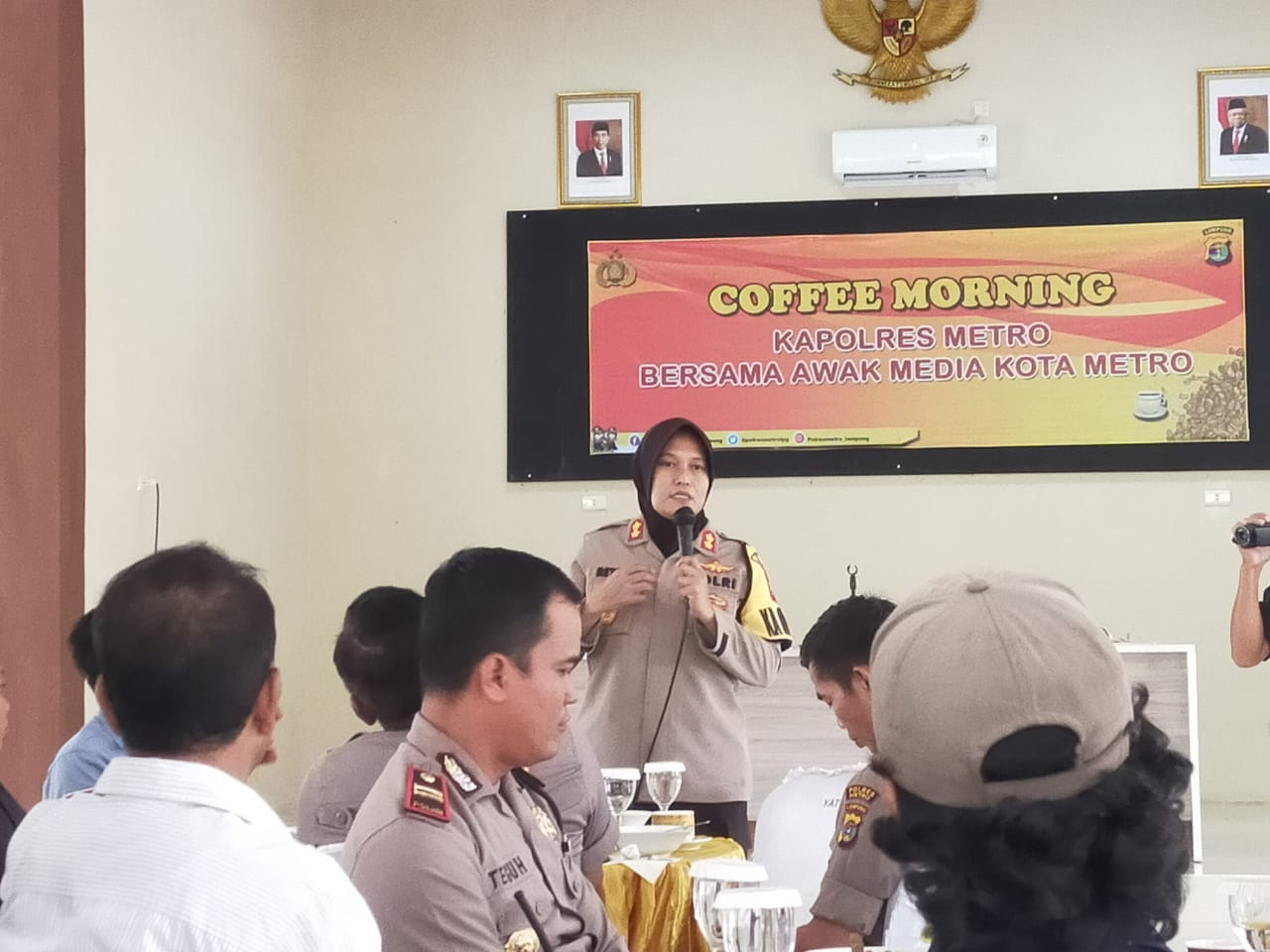 Polres Metro Gelar Coffe Morning Dengan Awak Media