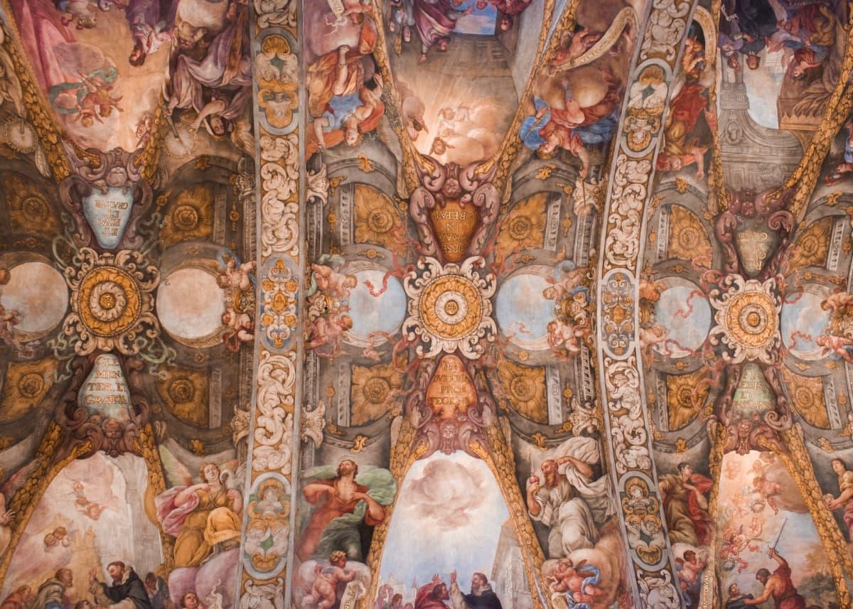ceiling frescoes san nicolas