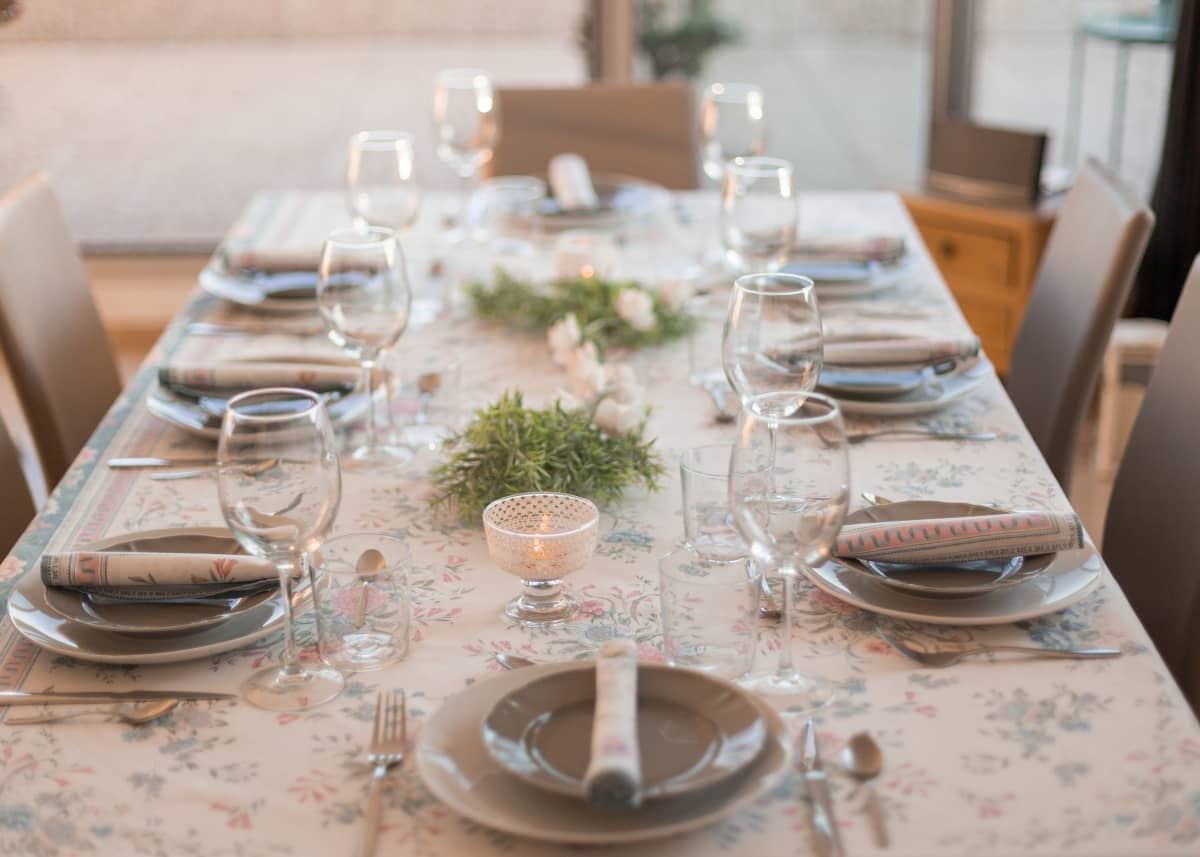 private dining experience table setting
