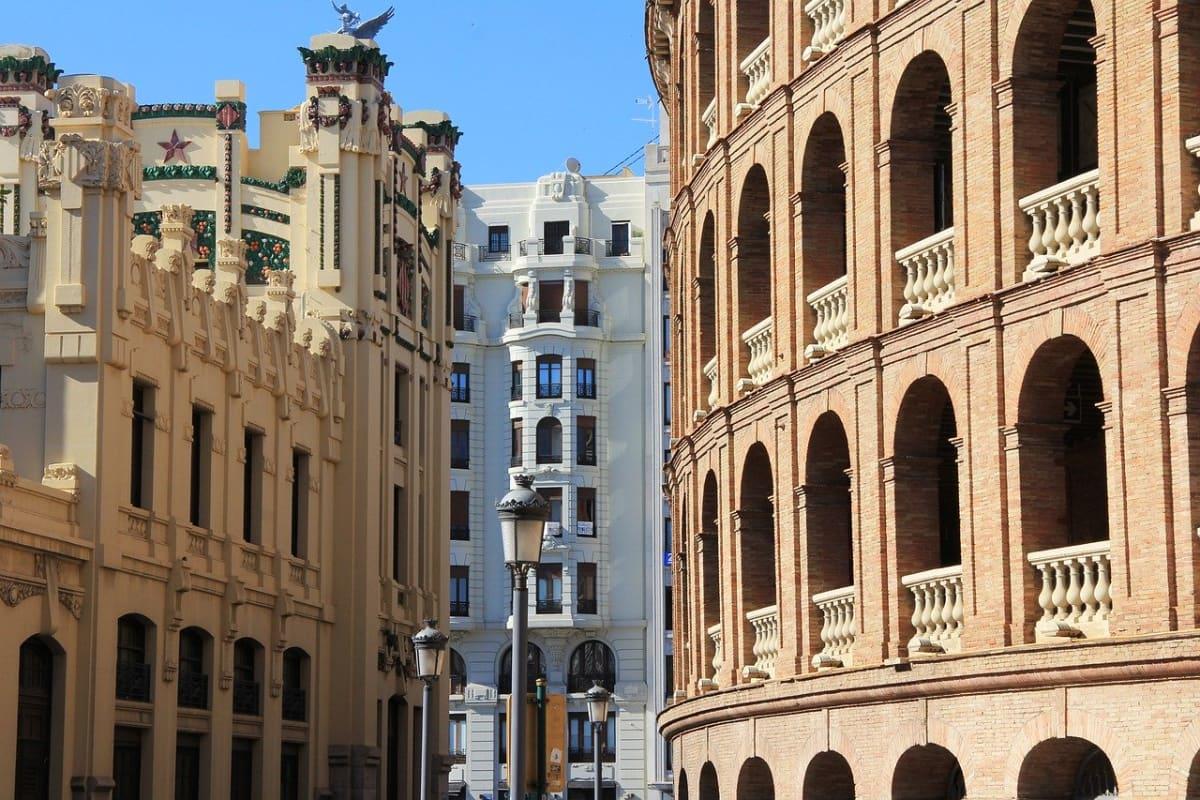 buildings of Valencia