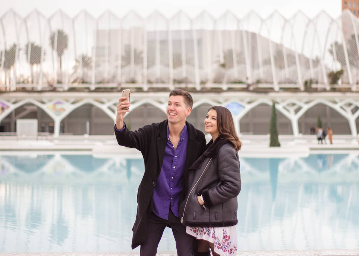 Couple selfie in City of Arts & Sciences