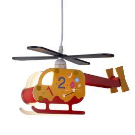 Novelty Children's Helicopter Pendant, Numbered Design
