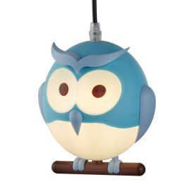 Novelty Children's Owl Pendant, Blue