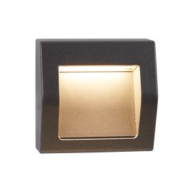 Die Cast Aluminium Ip54 Outdoor Small Led Dark Grey Wall Lights