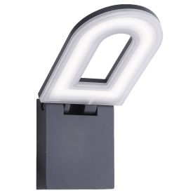 Aluminium Ip44 Grey Led Outdoor Wall Light Frosted Polycarbonate Diffuser