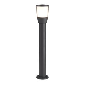Aluminium Tucson 1 Post Light, Polycarbonate Shade