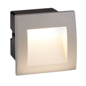 Die Cast Aluminium Led Indoor/outdoor Recessed Square, Wb Grey