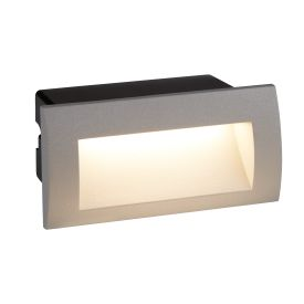 Die Cast Aluminium Led Indoor/outdoor Recessed Rectangle, Wb Grey