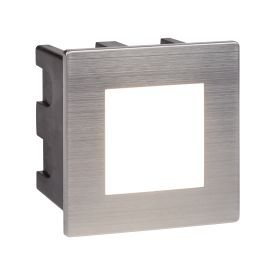 Stainless Steel Led Outdoor Recessed Square, Polycarbonate Diffuser