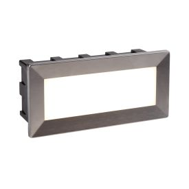 Wall Led Indoor/outdoor Recessed Rectangle, Opal White Polycarbonate Diffuser