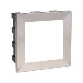 Wall Led Indoor/outdoor Recessed Square, Opal White Polycarbonate Diffuser