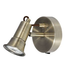 Eros Antique Brass 1 Light Wall Spotlight