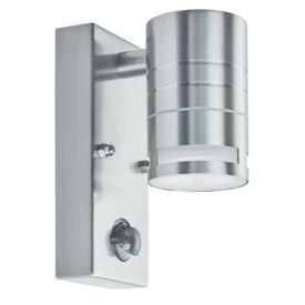 Ip44 Outdoor & Porch Led - 1 Light Wall Bracket, Stainless Steel, Motion Sensor