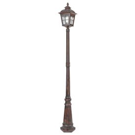 Pompeii Brown Stone Aluminium Ip44 Outdoor Post Light