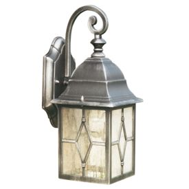 Genoa Die Cast Aluminium Ip23 Black & Silver Outdoor Wall Light