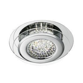 Vesta Chrome Led Flush Light With Crystal Centre Decoration