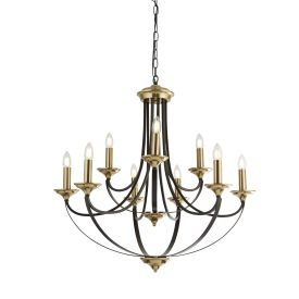 Belfry 9lt Pendant, Dark Bronze & Brown