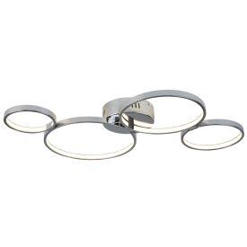 4 Ring Led Ceiling Flush, Chrome