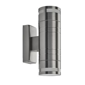 Led Ip44 Stainless Steel 2 Light Outdoor Wall Light With Gu10
