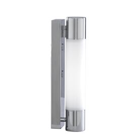 Ip44 Chrome Low Energy Wall Light With Fluorescent Tube
