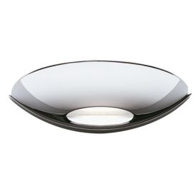 Led Uplight Wall Bracket, Chrome, Frosted Glass