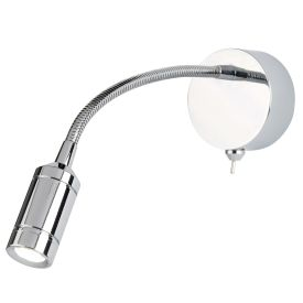 Led Wall Light - Flexi Arm - Chrome
