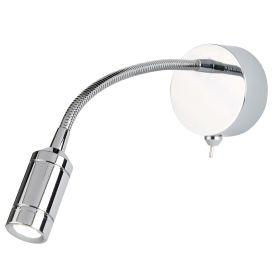 Led Wall Light - Flexi Arm - Chrome