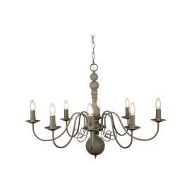Greythorne Steel 8 Light Fitting With Textured Grey Finish