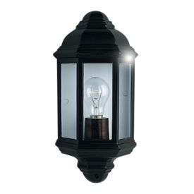 Black Ip44 Cast Aluminium Outdoor Flush Light With Clear Glass