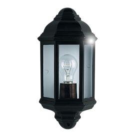 Black Ip44 Cast Aluminium Outdoor Flush Light With Clear Glass