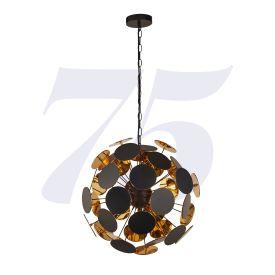 Discus 4lt Black/gold Pendant
