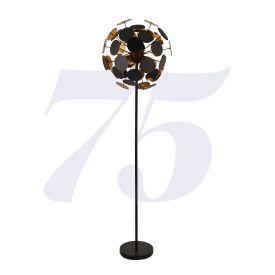 Discus 4lt Black/gold Floor Lamp