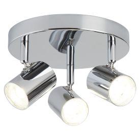 3 Light Cylinder Head Spot Plate, Chrome