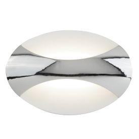 Led Oval Wall Light, Chrome/sand White