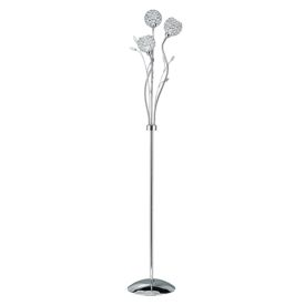 Bellis Ii Chrome 3 Light Floor Lamp With Clear Glass Metal Shades