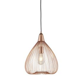 1 Light Wire Cage Pendant, Copper