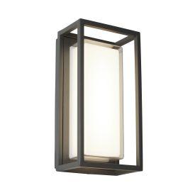 Bel Aire Aluminium Ip44 Black Outdoor  Wall Light Polycarbonate Diffuser
