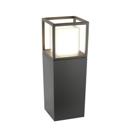 Outdoor Led Post Lamp, Dark Grey, White/clear Polycarbonate Diffuser