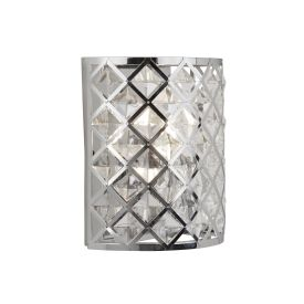 Tennessee 1lt Wall Light Chrome With Crystal Glass