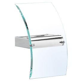 Led Wall Bracket, Bevelled Curved Glass, Chrome