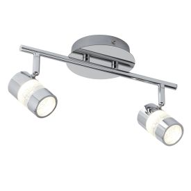 Bubbles Ip44 Chrome 2 Led Spotlight Bar/bathroom Use.