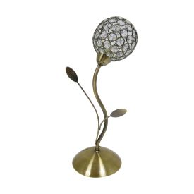 Bellis Ii Antique Brass Table Lamp With Clear Glass Metal Shade