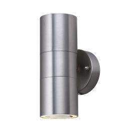 Led Stainless Steel Ip44 2 Light Outdoor Tube Wall Bracket