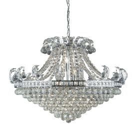 Bloomsbury 8 Light Chrome Chandelier With Clear Crystal Inser D'cor